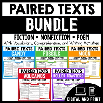 Paired Texts / Paired Passages - Passages and Comprehension Activities - BUNDLE