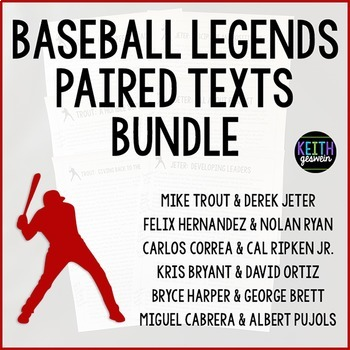 Paired Texts:  Baseball Legends Bundle