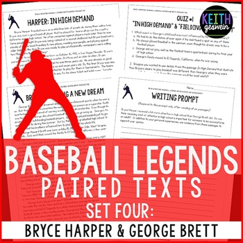 Baseball Paired Texts: Bryce Harper and George Brett: Nonfiction Passages