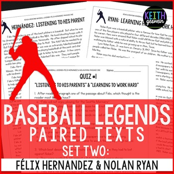 Baseball Paired Texts: Felix Hernandez and Nolan Ryan: Nonfiction Passages