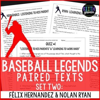 Baseball Paired Texts: Felix Hernandez and Nolan Ryan: Non