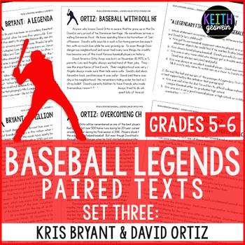 Baseball Paired Texts: Kris Bryant and David Ortiz (Grades 5-6)
