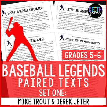 Baseball Paired Texts: Mike Trout and Derek Jeter: Nonfict