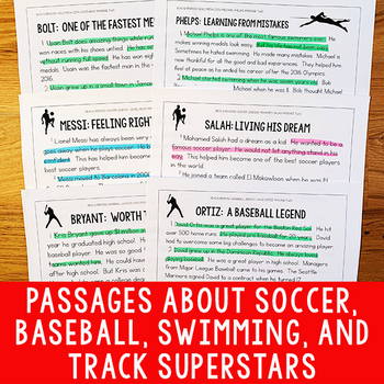 Paired Texts Bundle #1 (Grades 1-2): Paired Texts About Famous Athletes