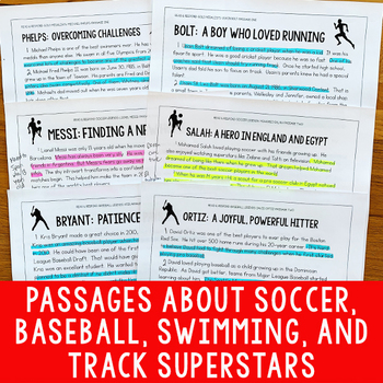 Paired Texts Bundle #1 (Grades 3-4): Paired Texts About Famous Athletes