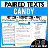 Paired Texts - Candy - Passages, Vocabulary, and Comprehension Activities!
