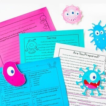 Paired Texts / Paired Passages: Epidemics and Germs Grades 4-8