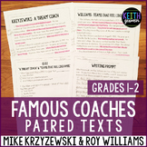 Paired Texts: Famous Coaches: Mike Krzyzewski and Roy Williams (Grades 1-2)