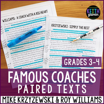 Paired Texts: Famous coaches: Mike Krzyzewski and Roy Williams (Grades 3-4)