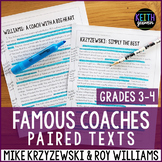Paired Texts: Famous coaches: Mike Krzyzewski and Roy Will