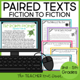 Paired Texts Fiction to Fiction Print and Digital Distance Learning