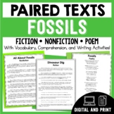 Paired Texts - Fossils - Passages, Vocabulary, and Comprehension Activities!