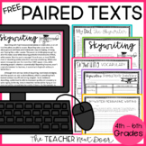 Paired Texts Freebie Print and Digital Distance Learning for 4th - 6th Grades