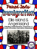 Paired Texts: Immigration - Ellis & Angel Island (Create a