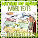 Paired Texts - Maui Myths Passages, Vocabulary, and Comprehension Activities