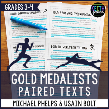 Paired Texts: Michael Phelps and Usain Bolt (Grades 3-4)