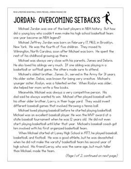 Basketball Paired Texts: LeBron James and Michael Jordan (Grades 5-6)