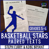 Basketball Paired Texts: Steph Curry and Kobe Bryant: (Grades 5-6)