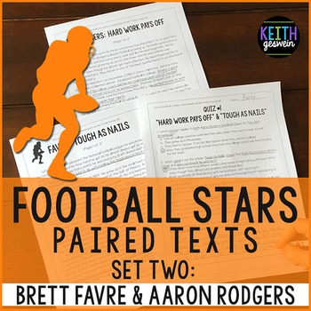 Football Paired Texts: Aaron Rodgers and Brett Favre: Nonfiction Passages