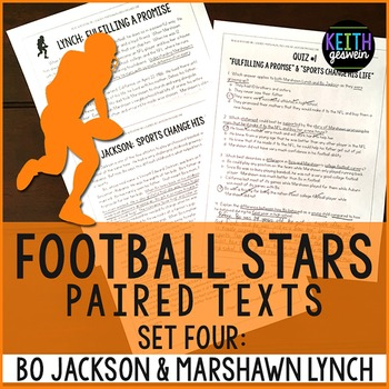 Football Paired Texts: Bo Jackson and Marshawn Lynch: Nonfiction Passages