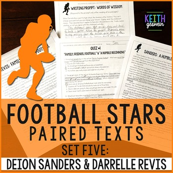 Football Paired Texts: Deion Sanders and Darrelle Revis: Nonfiction Passages