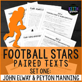 Football Paired Texts: Peyton Manning and John Elway: Nonfiction Passages