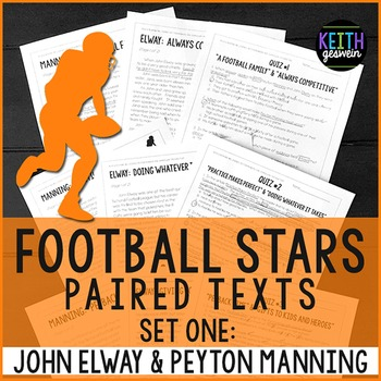 Football Paired Texts: Peyton Manning and John Elway: Nonf