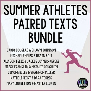 Paired Texts: Summer Athletes Bundle