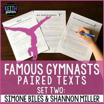 Gymnastics Paired Texts: Simone Biles and Shannon Miller: Nonfiction Passages