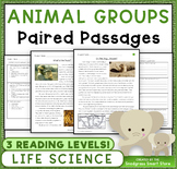 Animal Groups: Paired Texts/Paired Passages (NGSS 3-LS2-1)
