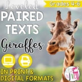 Paired Texts / Paired Passages: Giraffes and Zoos Grades 4-6
