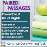 Paired Texts - Preamble, Bill of Rights, Speech by RBG - D