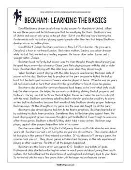 Paired Texts: Soccer Legends David Beckham and Pelé: Nonfiction Passages