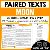 Paired Texts - The Moon - Passages, Vocabulary, and Comprehension Activities!