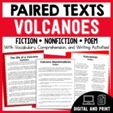 Paired Texts - Volcanoes - Passages, Vocabulary, and Comprehension Activities!