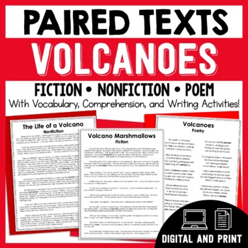 Paired Texts - Volcanoes - Passages, Vocabulary, and Compr