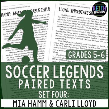 Paired Texts: Women's Soccer Legends Mia Hamm & Carli Lloy