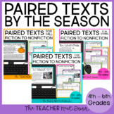 Paired Texts by the Season Bundle for 4th - 6th Grades