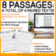 Paired Texts by the Season Bundle for 4th - 6th Grades | Paired Passages
