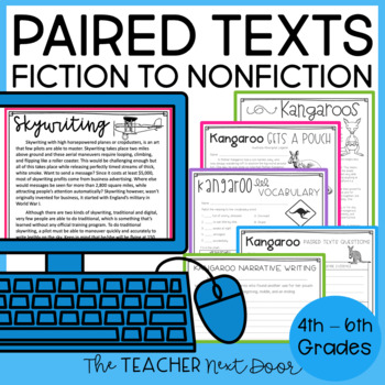 Paired Texts: Nonfiction to Fiction for 4th - 6th Grade