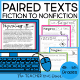 Paired Texts Fiction to Nonfiction Print and Digital Distance Learning