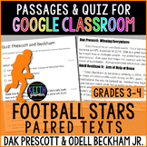 Paired Texts for Google Classroom: Dak Prescott & Odell Be