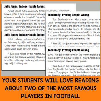 Paired Texts for Google Classroom: Julio Jones and Tom Brady (Grades 3-4)