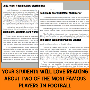 Paired Texts for Google Classroom: Julio Jones and Tom Brady (Grades 5-6)