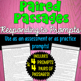Paired Texts Passages with Writing Prompts | PDF and Digital |