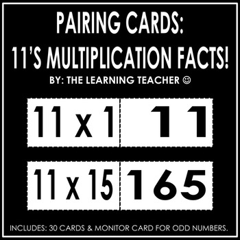 Pairing Cards: 11's Multiplication Facts