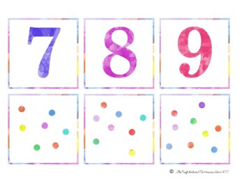 Pairing Numerals and Quantities Cards