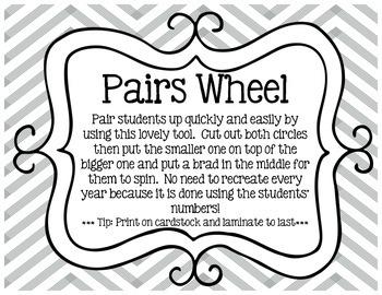 Pairing Wheel