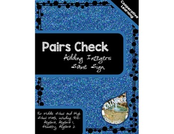 Pairs Check - Adding Integers with the Same Signs