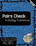 Pairs Check - Evaluating Expressions
